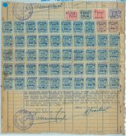 84181  - SPAIN - POSTAL HISTORY - TELEGRAPH STAMPS On Large  COVER  Cut Out 1951 - Telegrafi