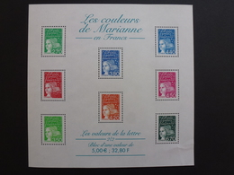 FRANCE Bloc Feuillet Les Couleurs De Marianne 2001 NEUF ** Y&T N°BF 42 - Mint/Hinged