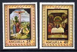 ANGUILLA - 1969 EASTER PAINTINGS SET (2V) GOOD MOUNTED MINT * SG 53-54 - Anguilla (1968-...)