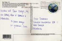 U.S. San Diego Postcard Via Macedonia 2013 Nice Stamp Global Forever - Vereinigte Staaten
