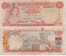Bahamas - 5 Dollars 1965 P. 21a Fine Lemberg-Zp - Bahamas
