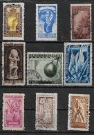 1948 Argentina Revolucion-riel-agricultor-cartografia-seguridad Laboral-17 De Octubre-correo-indio 9v. - Argentina
