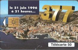 Télécarte Monaco - 377 /  50 U - 52 000  Ex. - 06/96 - Monace