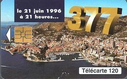 Télécarte Monaco - 377 /  120 U - 100 000  Ex. - 06/96 - Monace