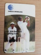 Anguilla $20,- Batsman Alex Adams, Axa-06  Prepaid     Fine Used Card  ** 2035 ** - Anguilla