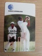 Anguilla $20,- Batsman Alex Adams, Axa-09  Prepaid     Fine Used Card  ** 2036 ** - Anguilla