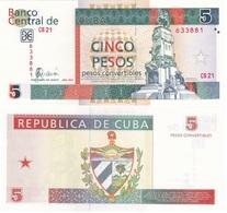 Cuba - 5 Pesos Convertibles 2005 AUNC Pick FX44b Lemberg-Zp - Cuba