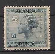 RUANDA URUNDI 75 MNH NSCH ** - 1924-44: Nuevos
