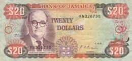 BANCONOTA JAMAICA 20 DOLLARI 1991 - VF (TY2017 - Jamaique