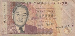 BANCONOTA MAURITIUS 25 RS 1999 -VF (TY2019 - Mauritius