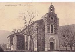 CPA    Rompon (07) L'église Et Le Presbytère   TBE  Ed Fayol Lavoulte - Autres Communes