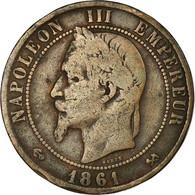 Monnaie, France, Napoleon III, Napoléon III, 10 Centimes, 1861, Bordeaux, TB - D. 10 Centimes