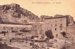 CPA    Le Pouzin (07) Le Rocher Charroi De Pièrres   TBE  Ed Chartier - Le Pouzin