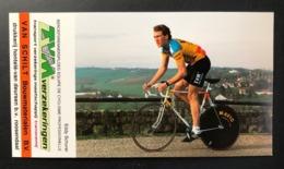 Eddy Schurer - TVM - 1988 - Carte / Card - Cyclists - Cyclisme - Ciclismo -wielrennen - Cyclisme