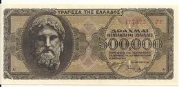 GRECE 500000 DRACHMAI 1944 UNC P 126 - Grèce