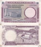 Nigeria - 5 Shillings 1967 VF P. 6 Lemberg-Zp - Nigeria
