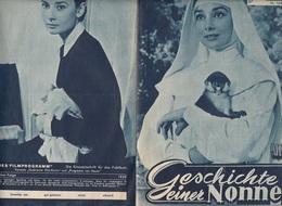 DIE GESCHICHTE EINER NONNE - Kinoprogramm 1959, Gefaltet - Programma's