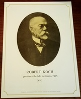 Gravure Ancienne Du Prix Nobel De Médecine 1905, L'allemand Robert Koch - 25x19cm - Plakate