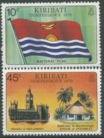 Kiribati 1979 Tag Der Unabhängigkeit Nationalflagge 336/37 Postfrisch - Kiribati (1979-...)