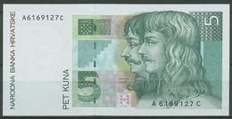 Kroatien 5 Kuna 1993, KM 28 A Fast Kassenfrisch (K281) - Croacia