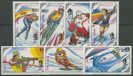 Mongolei 1992 Olympiade Albertville: Eisschnelllauf, Biathlon 2354/60 Postfrisch - Mongolie