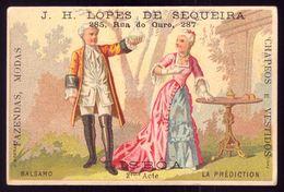 Cartão Publicidade Loja Rua Ouro LISBOA. Chromo MADAME DUBARRY Theatre. Old Victorian Trade Card VTC Portugal 1880 - Cromo