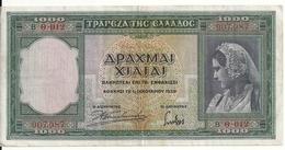 GRECE 1000 DRACHMAI 1939 VF P 110 - Grèce
