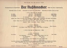 """DEUTSCHES OPERNHAUS BERLIN 1936 - 14 Seitiges Programmheft """"DER NUßKNACKER"""", Format 24 X 16 Cm ... - Programma's"""