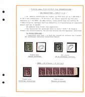 69  -30c Vert - Preoblitéré X2 FAUX  + Bande De 5 No 73 FAUX - Preobliterati