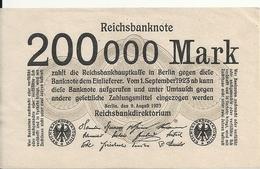 ALLEMAGNE 200000 MARK 1923 VF+ P 100 - [ 3] 1918-1933 : República De Weimar