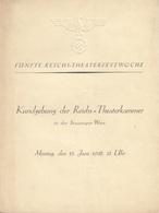 KUNDGEBUNG DER REICHSTHEATERKAMMER In Der STAATSOPER WIEN 1938, Format 24 X 18 Cm ... - Programma's