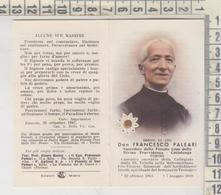SANTINI SANTINO HOLY PICTURE IMAIGE SAINTE FUSTELLATO  DON FRANCESCO PALEARI CON RELIQUIA - Devotieprenten