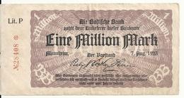 ALLEMAGNE 1 MILLION MARK 1923 VF - [ 3] 1918-1933: Weimarrepubliek