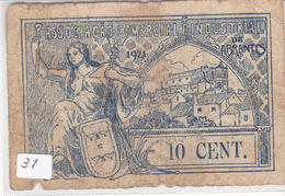 Portugal -Cédula   De Abrantes 10 Centavos   Nº 31 - Portugal