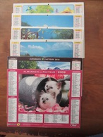 LOT DE 6 CALENDRIERS VAUCLUSE 1984- 1985- 1986- 1987- 2009- 2010 - Calendars