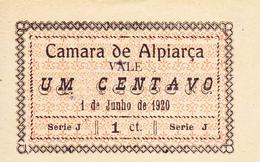 Portugal -Cédula   De Alpiarça    1 Centv  Série  J   Nº 184 - Portugal
