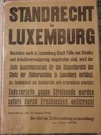 Standrecht In Luxemburg 1942 - 1940-1944 German Occupation
