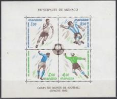 MONACO Block 20, Postfrisch **, Fußball-Weltmeisterschaft, Spanien 1982 - Blocks & Sheetlets