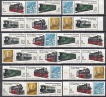 DDR WZd 505-516, 2629-2632, Postfrisch ** , Schmalspurbahnen Freital, Putbus 1981 - [6] Democratic Republic