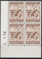 DÄNEMARK 508, 4erBlock, Eckrand Unten Links, Postfrisch **, Flüchtlingshilfe 1971 - Nuovi