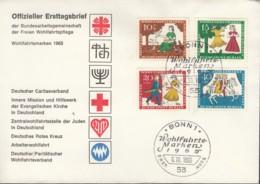BERLIN 266-269, FDC, Wohlfahrt Märchen: Aschenputtel, 1965 - FDC: Briefe