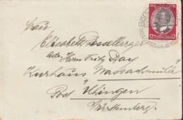 DR 542 EF, Auf Brief Mit Stempel: Bönnigheim 25.7.1934, Mit Vignette Rotes Kreuz Eisenach Wartburg - Deutschland