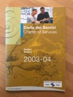Carta Dei Servizi Charter Of Services Aeroporti Sistema Del Garda Verona Brescia 2003-04 - Manuali