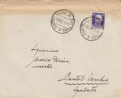 Montenegro 1943 Italian Occupation, Letter From CASTELNUOVO DI CATTARO, Rare Postmark! - Montenegro