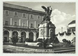 AVERSA - PIAZZA MUNICIPIO E MONUMENTO - VIAGGIATA FG - Aversa