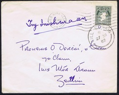 """Ireland Galway Aran Islands 1962 Cover To Inis Mor CILL RONAIN 27 XII 62 """"Try Inishmaan"""" - Irlande"""