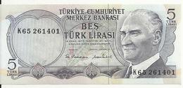 TURQUIE 5 LIRA 1976 UNC P 185 - Turquia