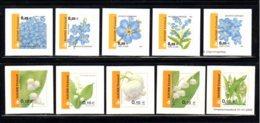 FINLANDE 2002 - Yvert N° 1565/1574 - Facit 1590/1599 - NEUF** MNH - Flore, Fleurs, Flowers, Myosotis Et Muguet - Nuevos