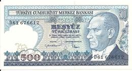 TURQUIE 500 LIRA L.1970(1983) UNC P 195 - Turquia