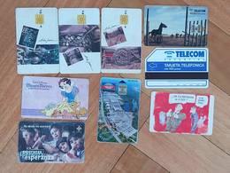 Argentina Phonecards Telecom Telefonica LOT OF 9 #11 - Tarjetas Telefónicas